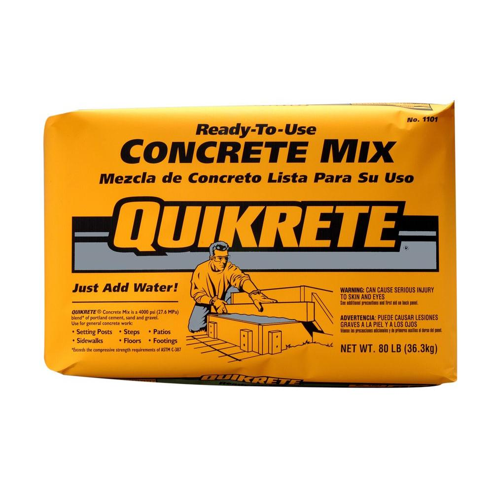 Quikrete 80 Lb Concrete Mix 110180 The Home Depot