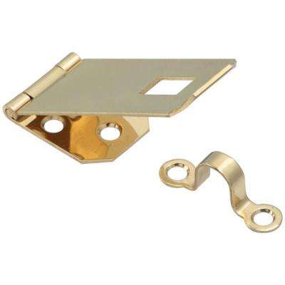 1 in. Bright Brass Solid Brass Hasp