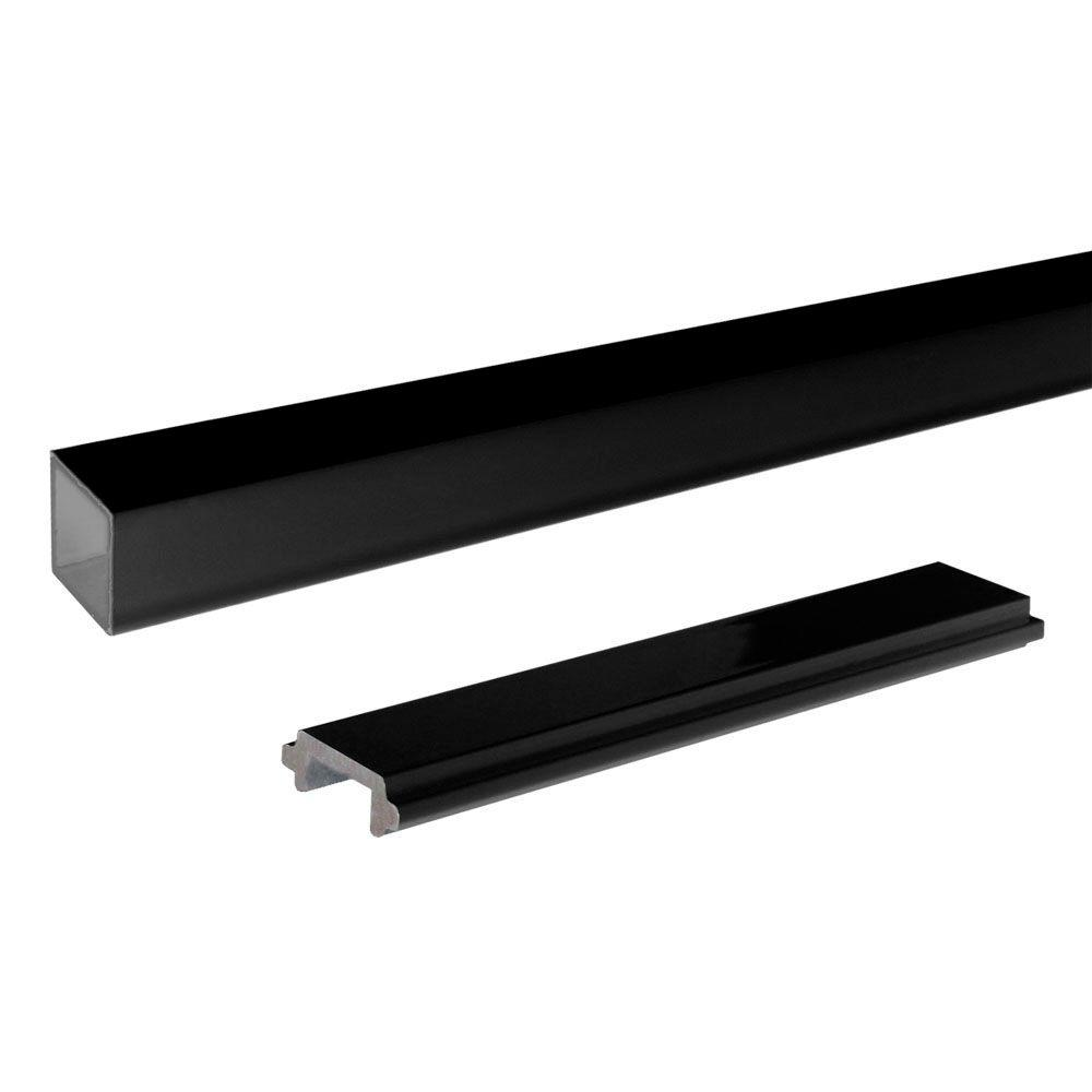 Peak Aluminum Railing Aluminum Single Standard Picket and Spacer Kit in Black