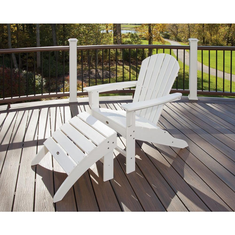 Trex Outdoor Furniture Cape Cod Classic White 2 Piece