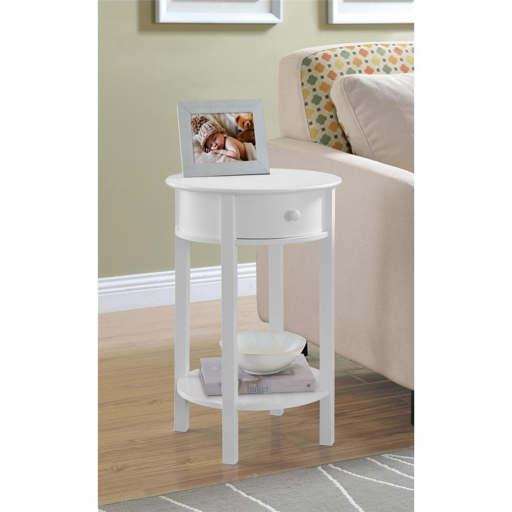 Merveilleux This Review Is From:Tipton White End Table