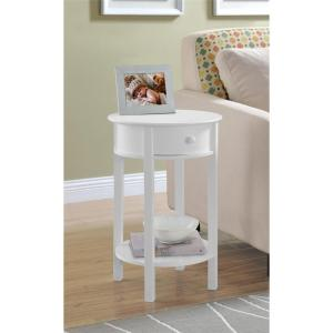 Altra Furniture Tipton White End Table by Altra Furniture