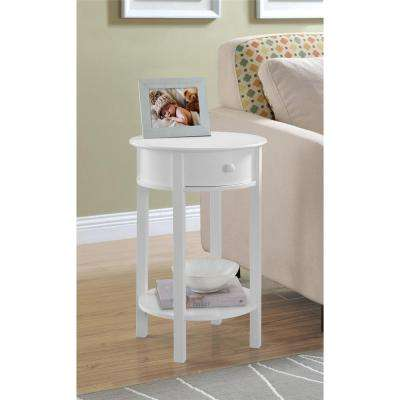 Tipton White End Table