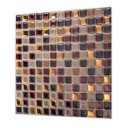 Tic Tac Tiles Square Maple 12 in. W x 12 in. H Peel and Stick Decorative Mosaic Wall Tile Backsplash (5-Tiles)