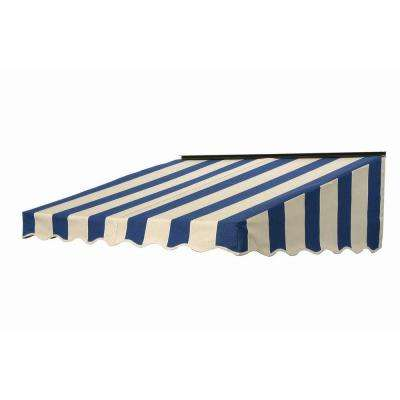 7 ft. 2700 Series Fabric Door Canopy (17 in. H x 41 in. D) in Mediterranean/Canvas Block Stripe