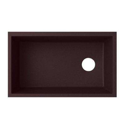 Undermount Granite 31-7/8 in. Single Bowl Kitchen Sink in Espresso