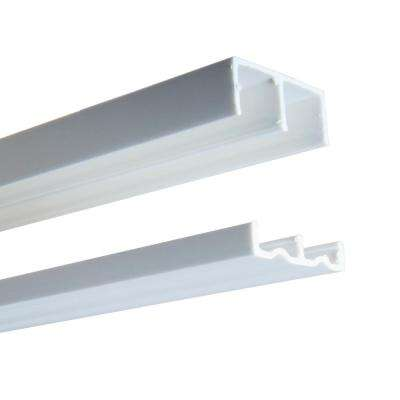 2419 Series 60 in. White Plastic Door Track Assembly