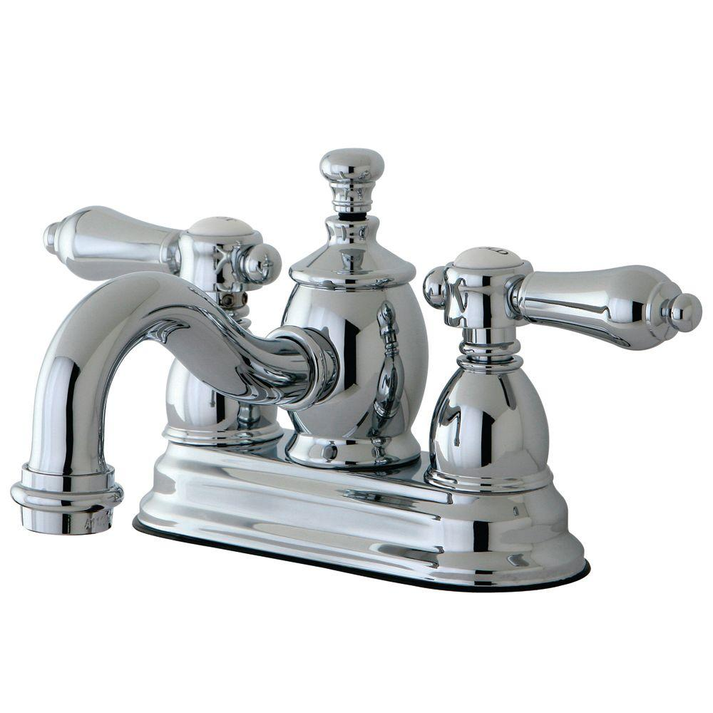 Kingston Brass Victorian 4 In Centerset 2 Handle Mid Arc Bathroom Faucet In Polished Chrome