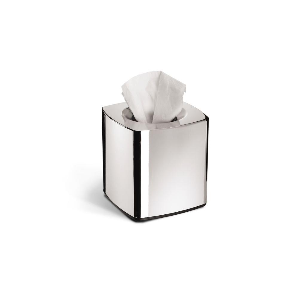simplehuman Square Tissue Box Holder in Chrome-DISCONTINUED