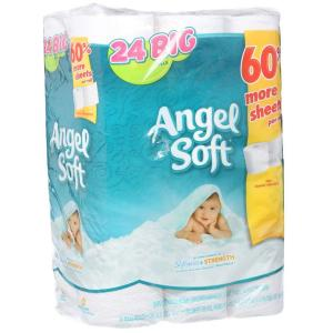 angel soft toilet paper soft bathroom tissue 2 ply 24 count gep77239pk 10059