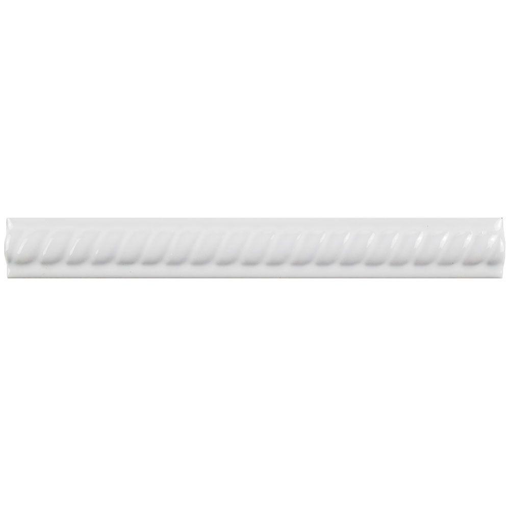 Merola Tile Trenza Blanco Moldura 1 In X 7 7 8 In