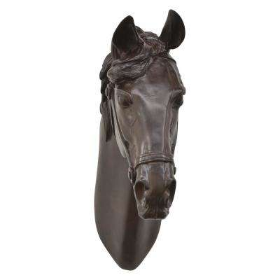14 in. Brown Horse Head Wall Decor