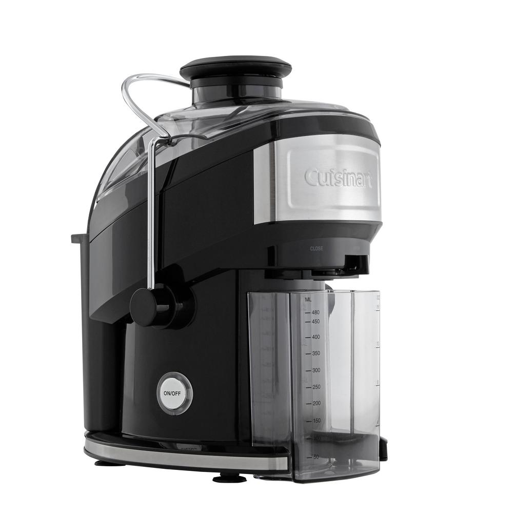 Cuisinart Compact 16 fl. oz. Black Masticating Juicer with Recipe Booklet and Cleaning Brush-CJE-500 - The Home Depot