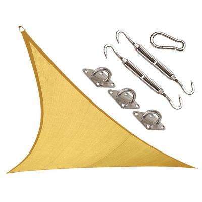Coolhaven 12 ft. x 12 ft. Sahara Triangle Shade Sail with Kit