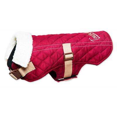 Large Dark Pink Original Sherpa-Bark Designer Fashion-Forward Dog Coat