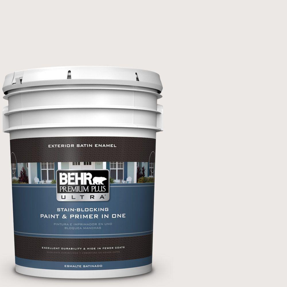 BEHR Premium Plus Ultra 5-gal. #740A-1 Downy Fluff Satin Enamel Exterior Paint