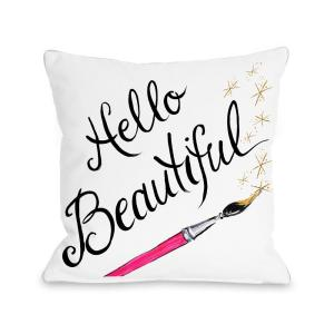 Click here to buy  Hello Beautiful Sparkles 16 inch x 16 inch Decorative Pillow.