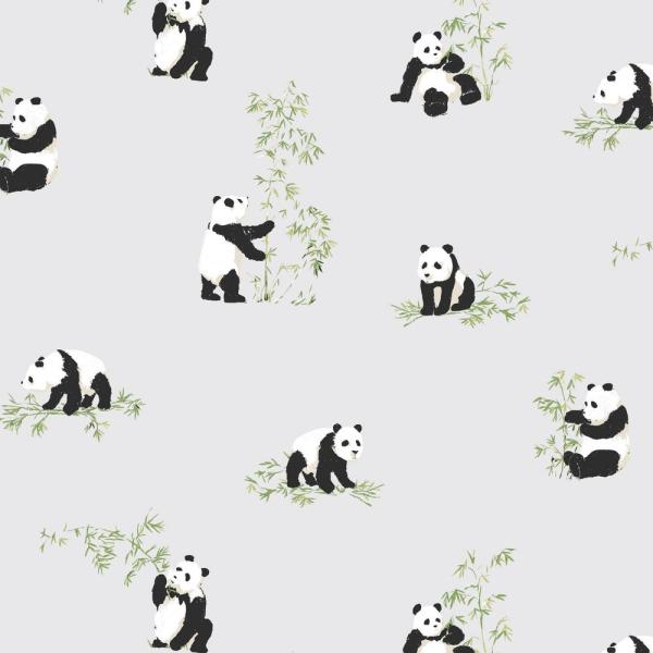 RoomMates 28.18 sq. ft. Panda Peel and Stick Wallpaper RMK11284RL