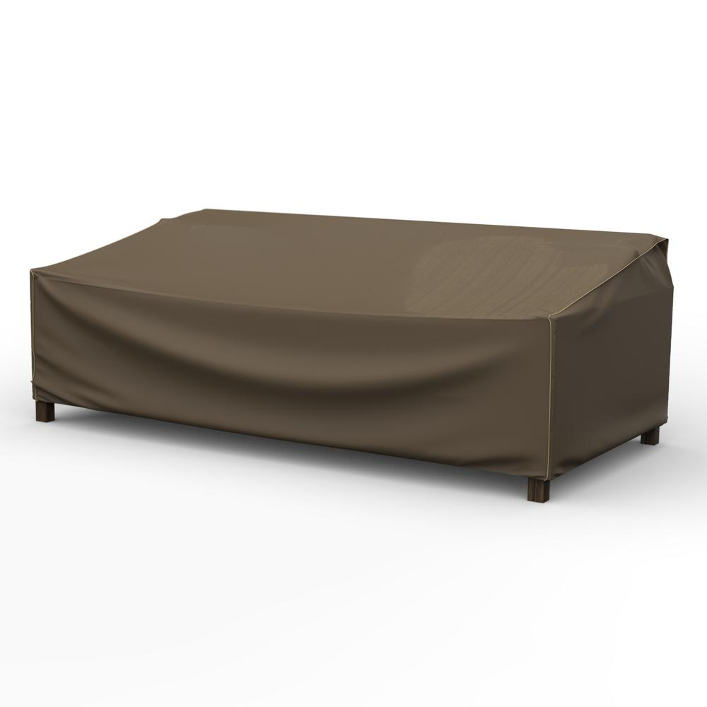 Budge Rust-Oleum NeverWet Hillside Extra-Extra Large Black and Tan Patio  Sofa Cover