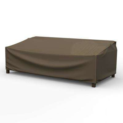 NeverWet Hillside Extra-Extra Large Black and Tan Patio Sofa Cover