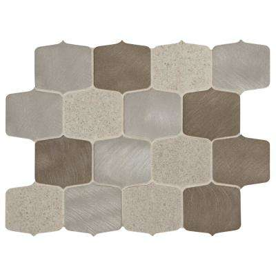 Premier Accents Gray Blend 9 in. x 13 in. x 8 mm Stone and Metal Mosaic Wall Tile (0.75 sq. ft. / piece)