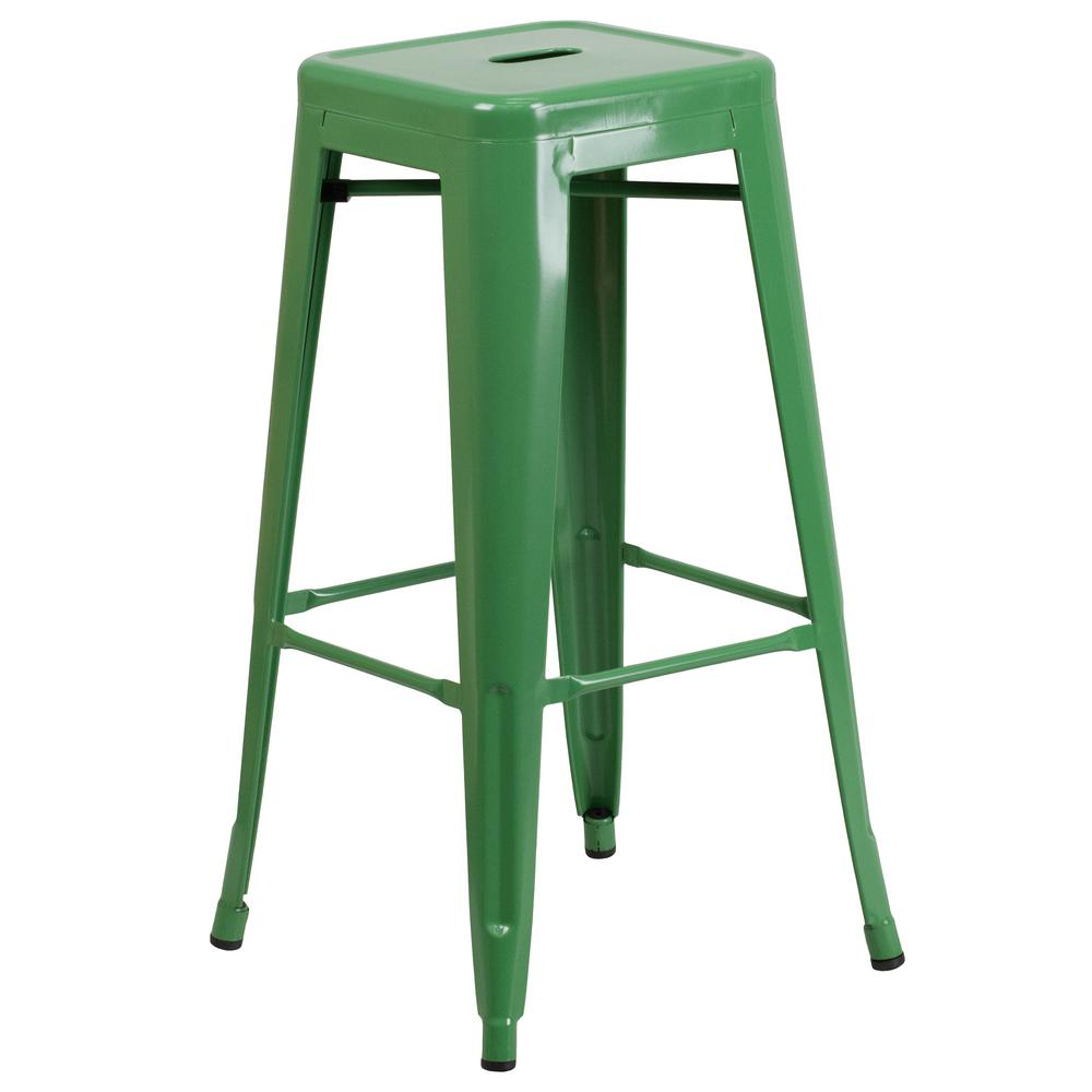 Flash Furniture 30 In Green Bar Stool Ch3132030gn The