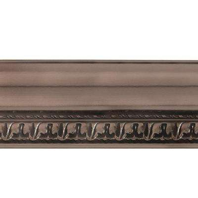 Grand Baroque 1 in. x 6 in. x 96 in. Wood Ceiling Crown Molding in Brushed Nickel