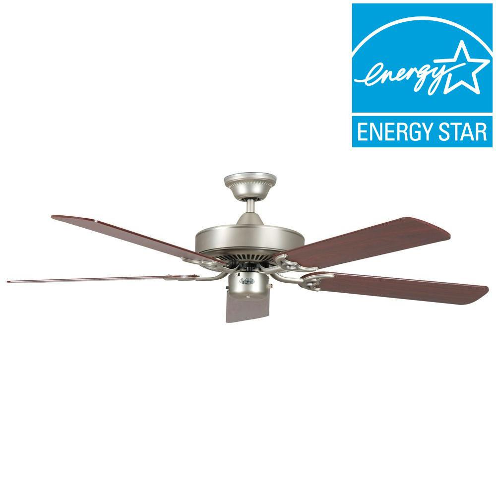 Concord Fans California Home Series 52 in. Indoor Satin Nickel Ceiling Fan