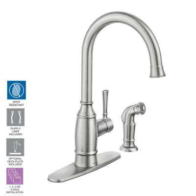 Spot Resistant 2 Or 4 Hole Kitchen Faucets Kitchen The Home