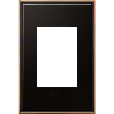1-Gang 3 Module Wall Plate with Beaded Border - Oil Rubbed Bronze