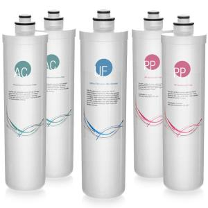 ISPRING LittleWell Ultra Filtration UF Water Filter Annual Replacement Filter Set by ISPRING