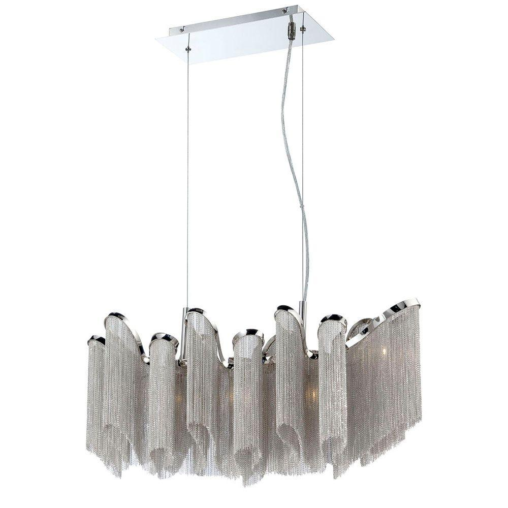 Eurofase Cadena Collection 5-Light Nickel Chandelier