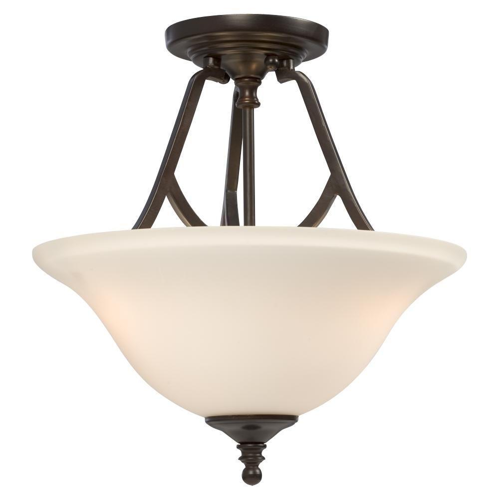 Filament Design Negron 2-Light Russet Bronze Incandescent Semi Flush Mount