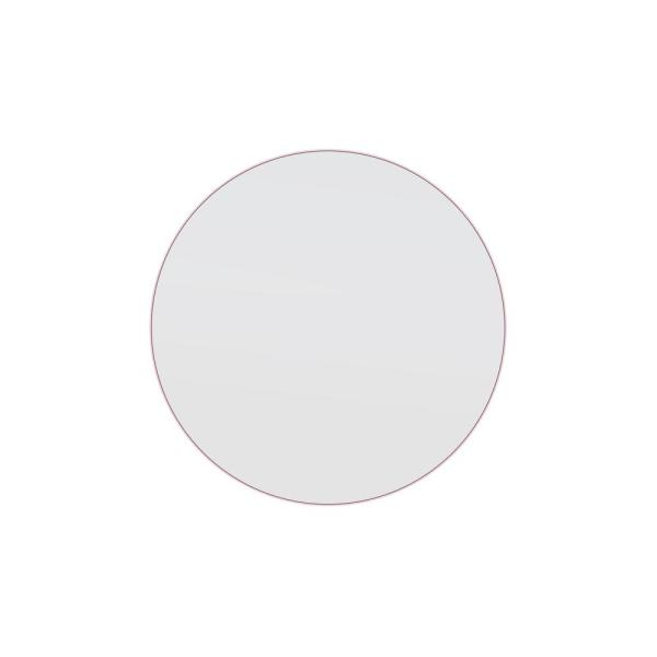 28 in. x 28 in. Round Stainless Steel Framed Wall Mirror in Pink