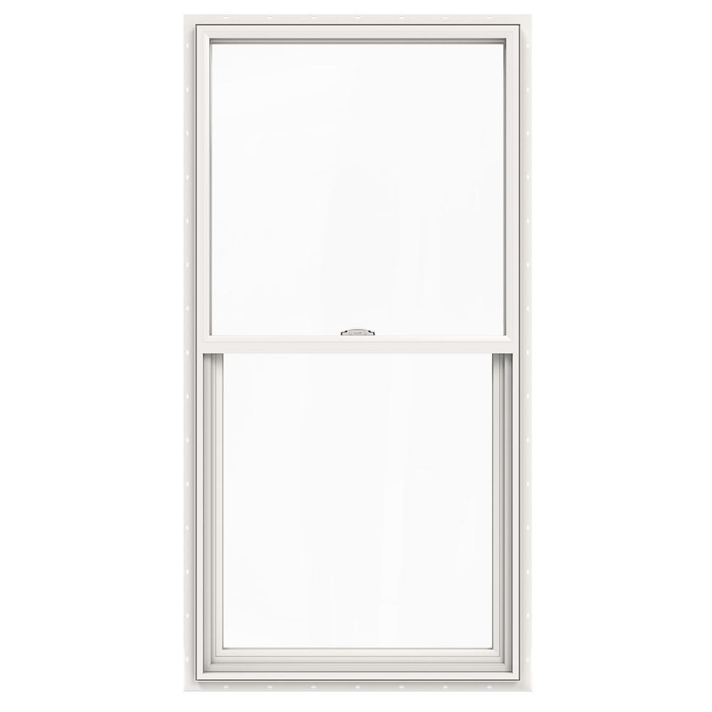 JELD-WEN 30 in. x 60 in. V-2500 Series Single Hung Vinyl Window - White