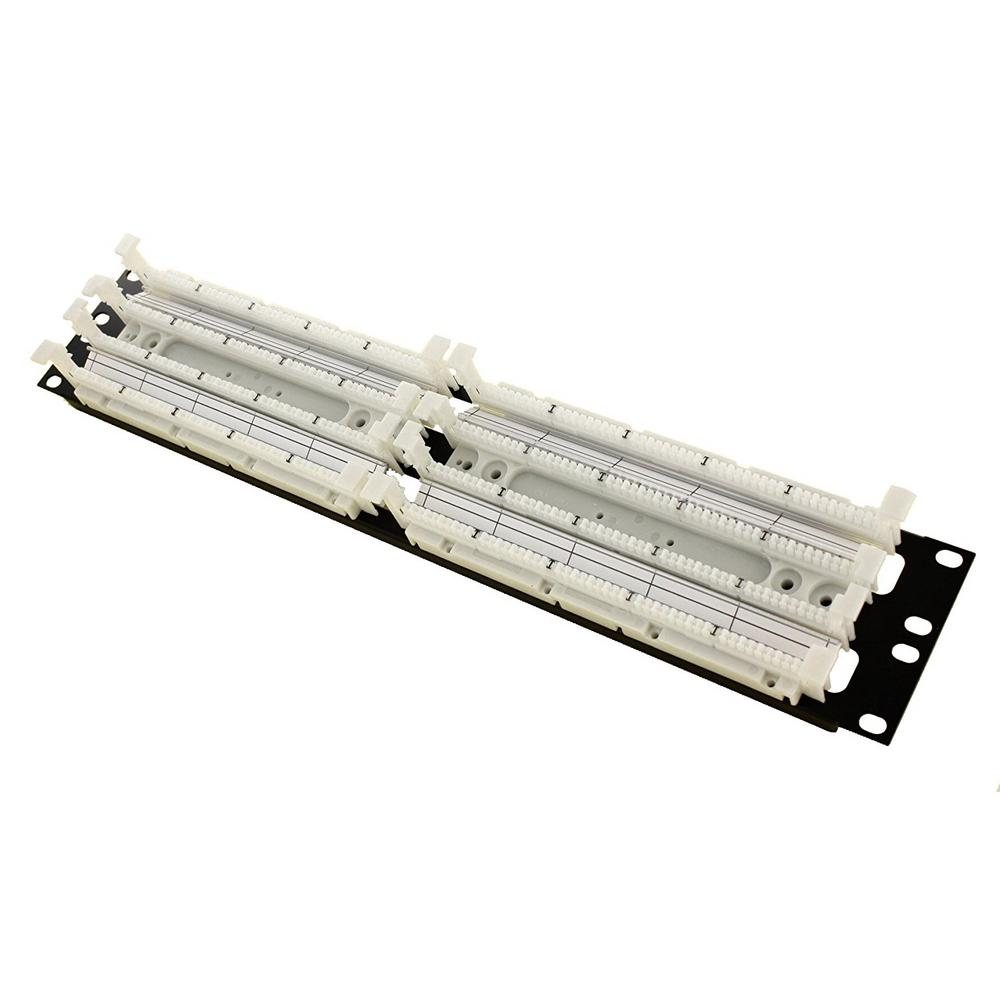 Cat 5e 110-Style Wiring Block Rack Mount, Ivory (200-Pair)