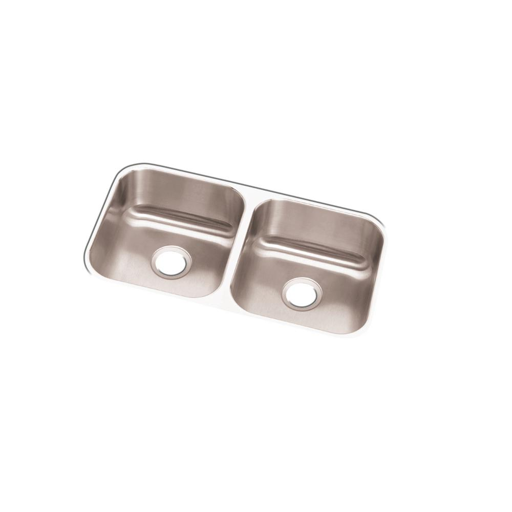Elkay Dayton Undermount Stainless Steel 32 In. Double Bowl Kitchen Sink DCFU3118    The Home Depot