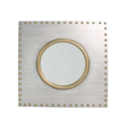 Griffin Square Iron/Gold Studded Accent Mirror