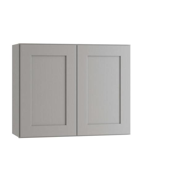 Home Decorators Collection Tremont Assembled 30 X 24 X 12 In Plywood Shaker Wall Kitchen Cabinet Soft Close In Painted Pearl Gray W3024 Tpg The Home Depot