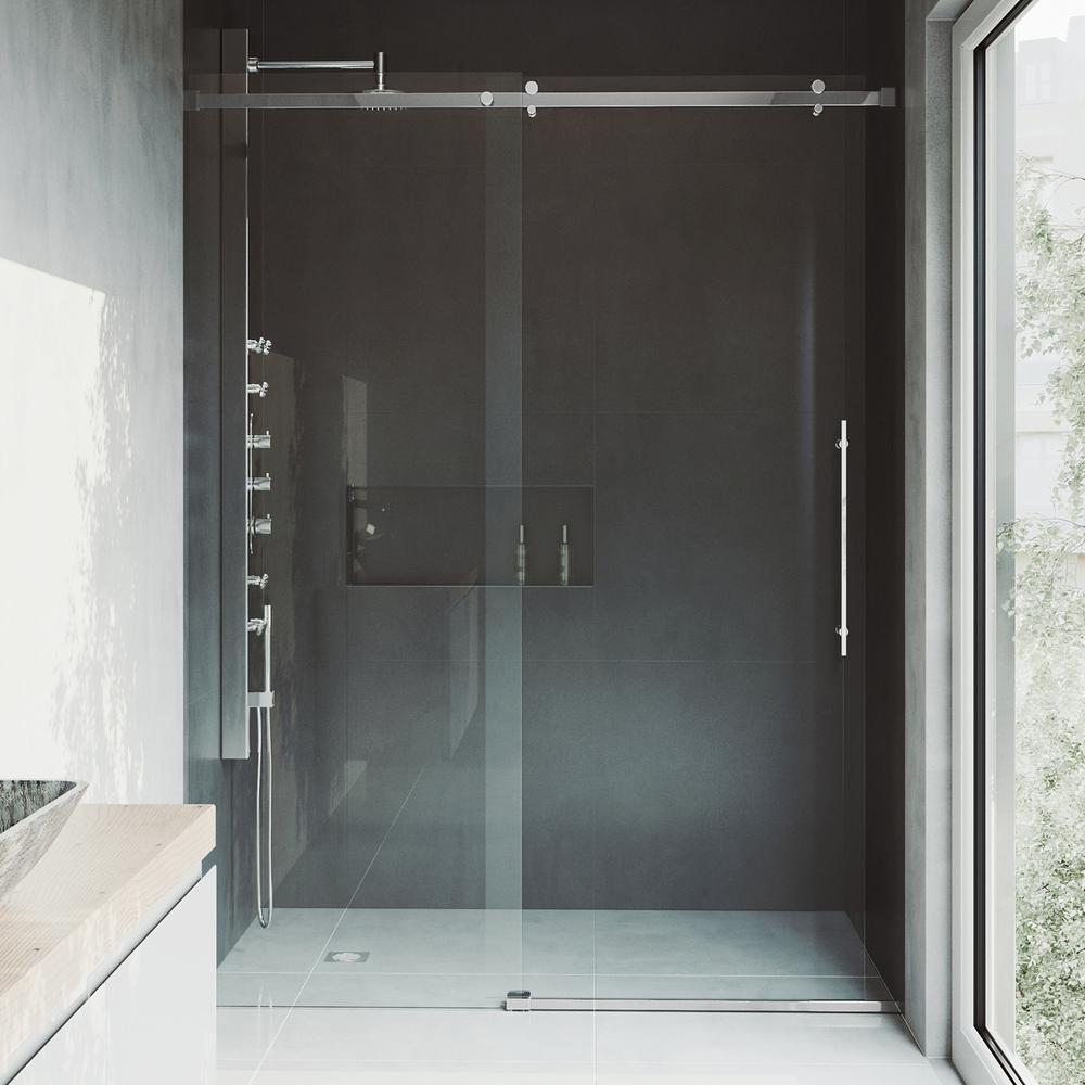 Vigo Luca 60 In X 78 In Frameless Fixed Shower Door With