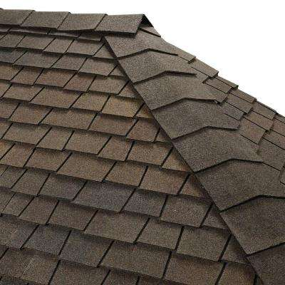 Timbertex Woodberry Brown Premium Hip and Ridge Shingles (20 lin. ft. per Bundle)