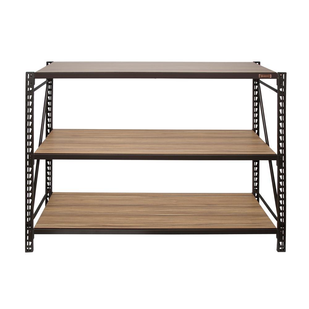 D 3 Shelves Steel/Laminate Expandable Designer Petite Storage Rack System  In Bronze 93089   The Home Depot