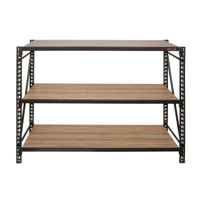 42 in. H x 48 in. W x 14 in. D 3-Shelves Steel/Laminate Expandable Designer Petite Storage Rack System in Bronze