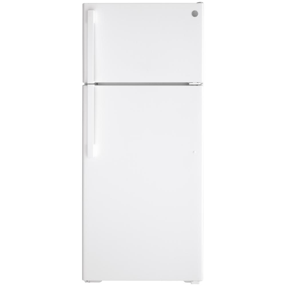 GE 17.5 cu. ft. Top Freezer Refrigerator in White, ENERGY STAR