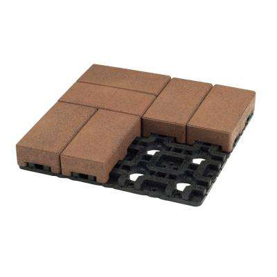 4 in. x 8 in. Boardwalk Composite Standard Paver Grid System (8 Pavers and 1 Grid)