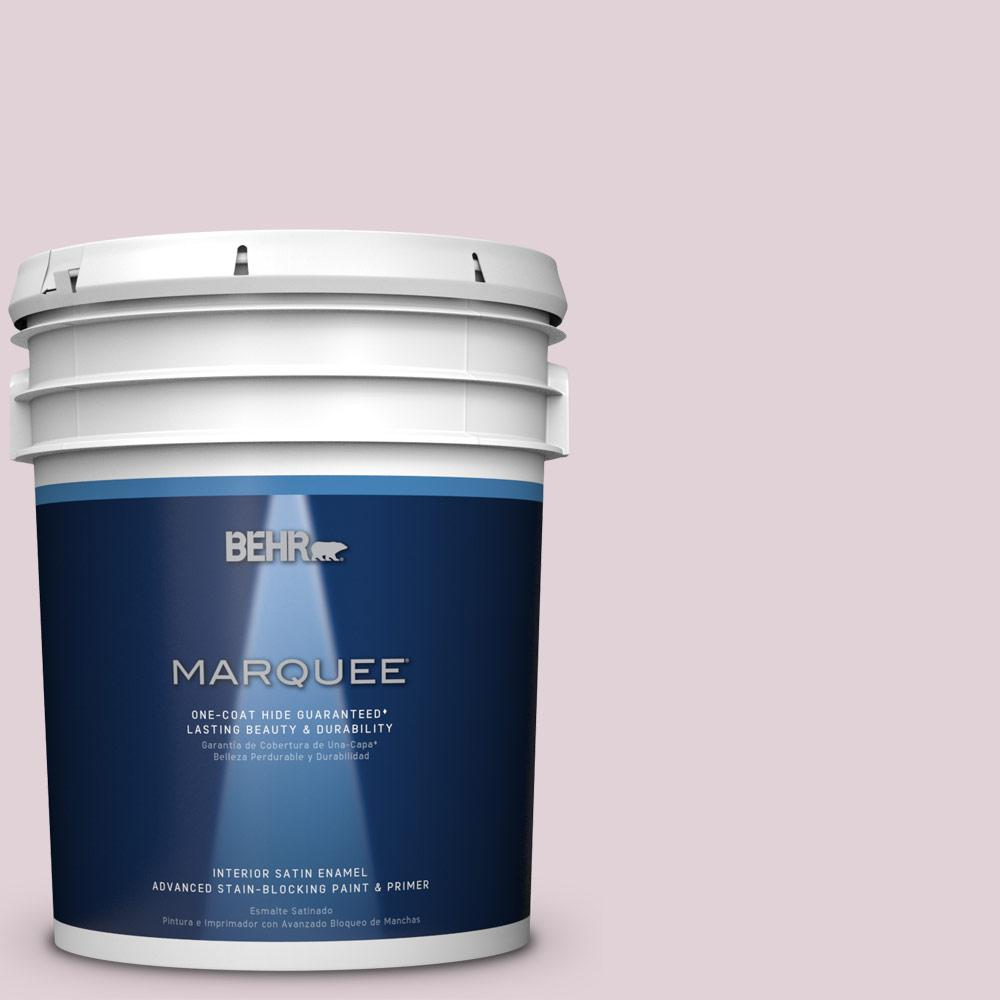 5 gal. #T15-7 Secret Blush Satin Enamel Interior Paint