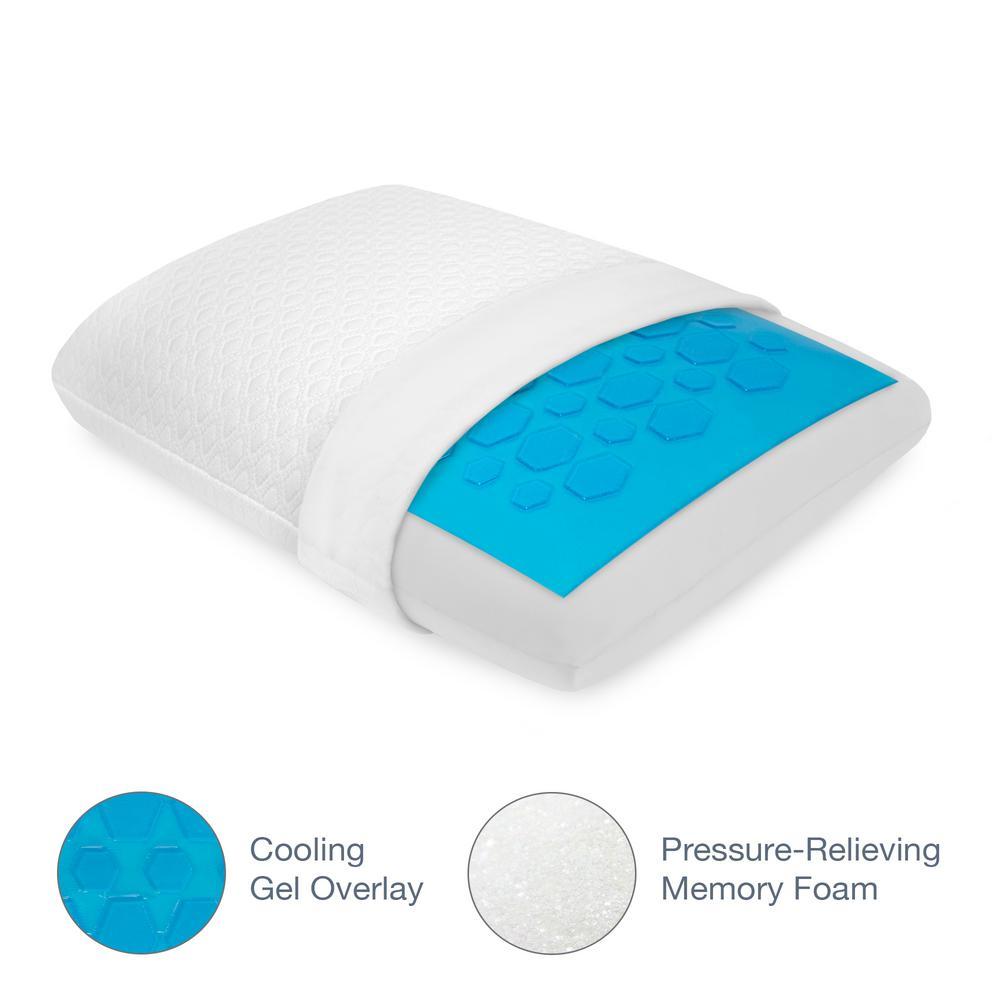 SensorPEDIC Luxury Cooling Gel Overlay Memory Foam Standard pillow