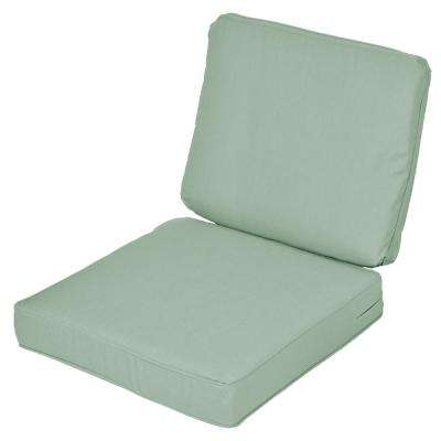 Sunbrella Spectrum Mist 2-Piece Deep Seating Outdoor Lounge Chair Cushion