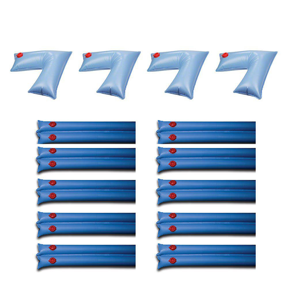 Swimline PVC Pool Cover Corner Weights (4-Pack) and Winter Cover Water  Tubes (10-Pack)
