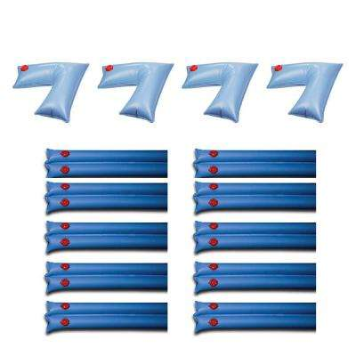 PVC Pool Cover Corner Weights (4-Pack) and Winter Cover Water Tubes (10-Pack)